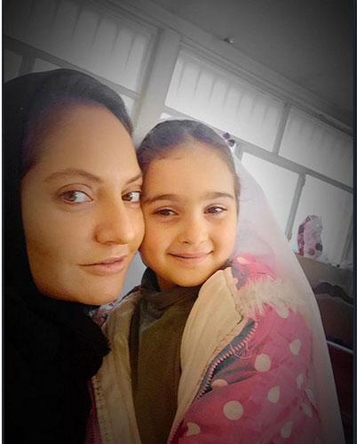 آخرین سلفی مهناز افشار با دخترش + عکس