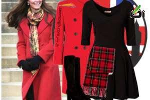 ست کردن لباس زمستانی به سبک kate middelton