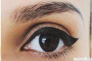 آموزش آرایش خط چشم گربه ای مخصوص روز و شب +عکس