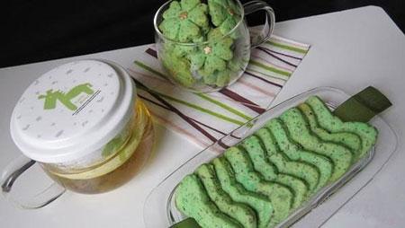 دستور تهیه بیسکوئیت چای سبز