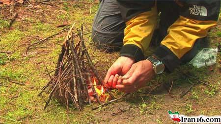 روش روشن کردن آتش در طبیعت ؟