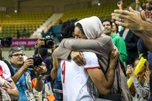 والیبالیست های ایران با همسرانشان در جشن اینچئون (تصویری)