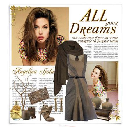 ست کردن لباس به سبک آنجلینا جولی برای پاییز ۲۰۱۴