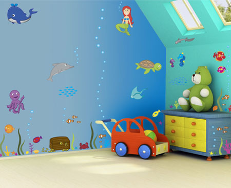 آموزش تزئین دیوار اتاق کودک