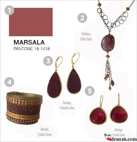 جواهرات با رنگ سال 2015