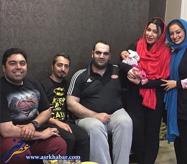 بهداد سلیمی در کنار همسر و دخترش (عکس)
