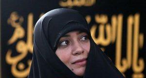 اصل دستخط رهبرانقلاب براى خانم چرخنده , دست خط رهبر انقلاب , الهام چرخنده , حجاب