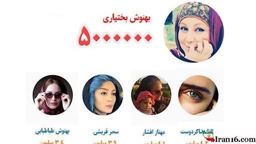 زنان بازیگر ایرانی با میلیون ها طرفدار در اینستاگرام + تصاویر
