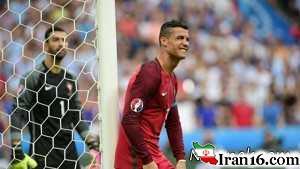 """مصدومیت شدید """"رونالدو"""" در فینال یورو 2016 + تصاویر"""