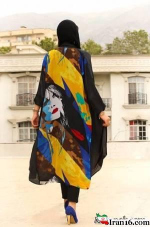 ماجرای مانتو چاپ دار برای ملکه های خیابانی تهران !+ تصاویر