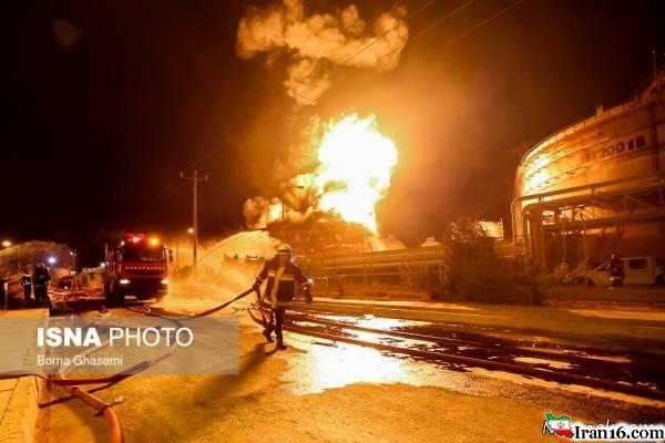 خسارت وارده بعد از آتش سوزی پتروشیمی بو علی سینا