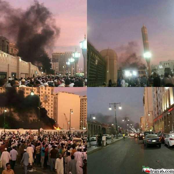 انفجار انتحاری در نزدیکی حرم پیامبر درمدینه+ تصاویر