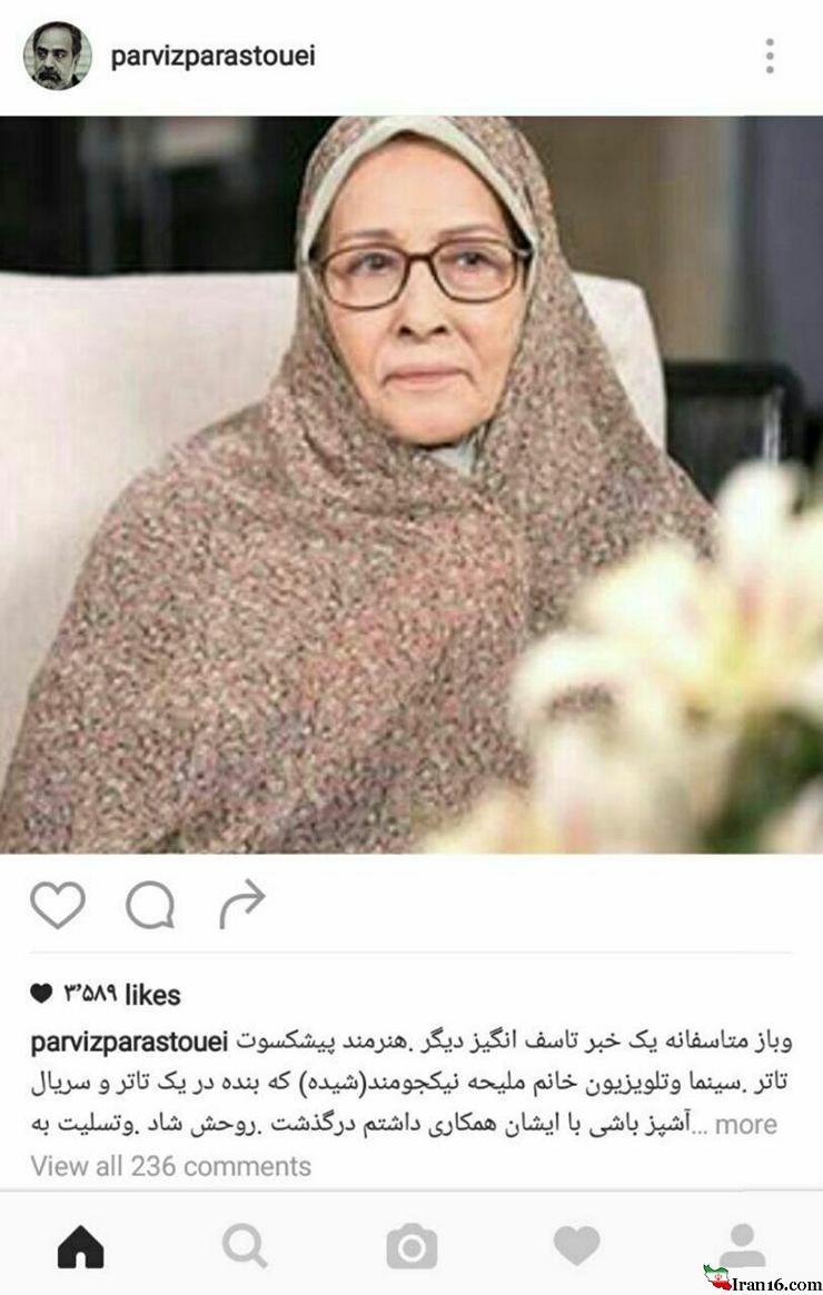 بازیگر مشهور زن بر اثر یک سانحه جان سپرد