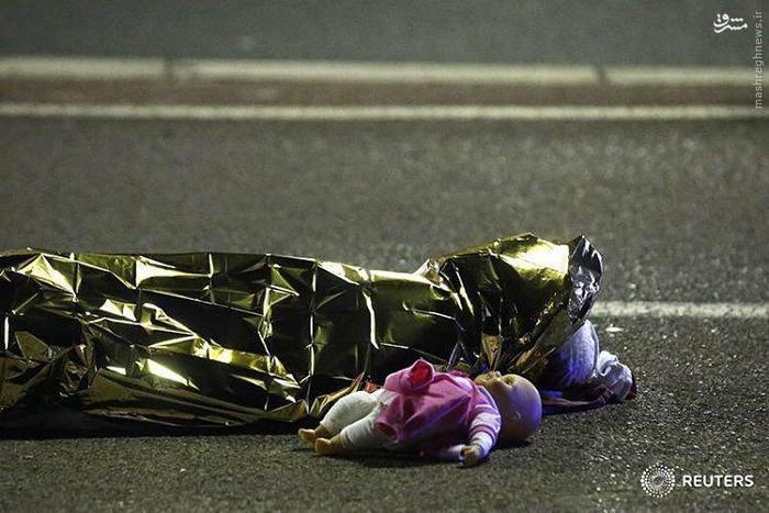 عکس تاثر برانگیز از حادثه دیشب در نیس