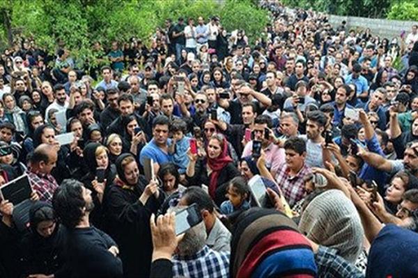 رفتار زشت و ناپسند چند زن در مراسم ختم حبیب +عکس