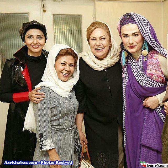 خانم بازیگر با لباسی متفاوت و بی حجاب (عکس)