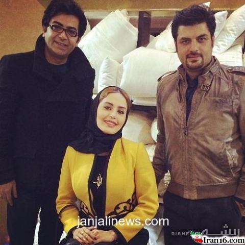 """سلفی """"الناز شاکردوست"""" با فرزاد حسنی و سام درخشانی"""