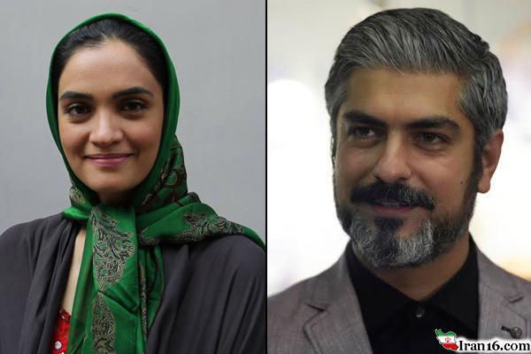 مهدی پاکدل در کنار نرگس مست +عکس