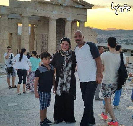 خوشگذرانی آقا و خانم بازیگر مشهور ایرانی در یونان + تصاویر
