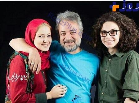 عکس خانوادگی حسن جوهرچی با تیپ جالب دختر و پسرش