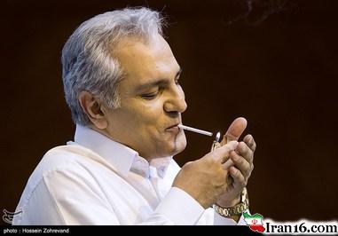 سیگار کشیدن مهران مدیری در نشست خبری!/تصاویر