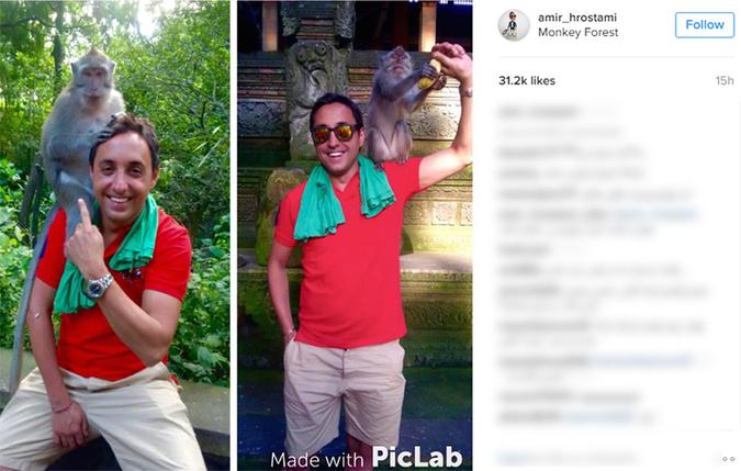 خوشگذرانی بازیگر پولدار ایرانی در سوحل اندونزی+تصاویر