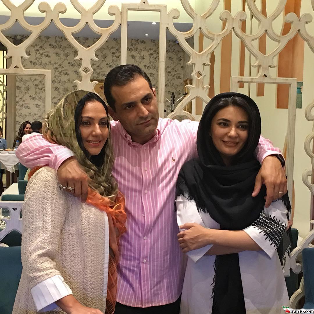 بازیگرزن مشهور ایرانی در کنار برادر و همسر برادرش+عکس