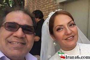 سوپر استار زن سینمای ایران در لباس عروسی اش +عکس