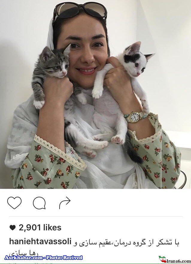 گربه های خانم بازیگر مشهور ایرانی (عکس)