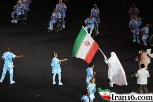 رژه کاروان ورزش ایران درافتتاحیه پارالمپیک؛ پرچمداری با لباس احرام