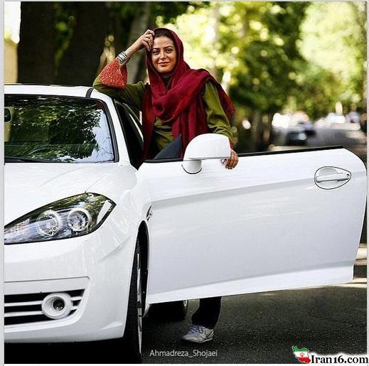 ماشین لوکس و گرانقیمت بازیگر زن مشهور ایرانی+عکس
