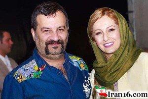 سلفی مهراب قاسم خانی و همسرش شقایق دهقان برروی دیوار چین