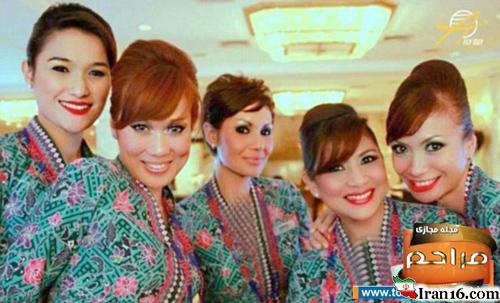 مهماندار ایرانی در مسابقه جذاب ترین مهمانداران هواپیما (تصاویر)