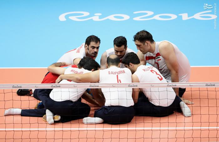 قهرمانی والیبال نشسته ایران ریو + تصاویر