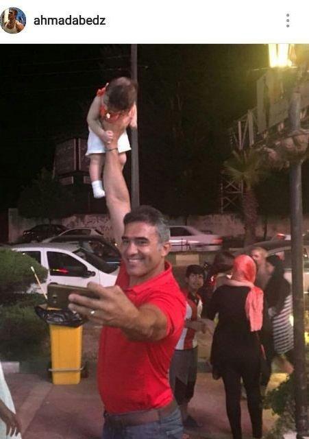سلفی عجیب عابدزاده در متل قو! + عکس