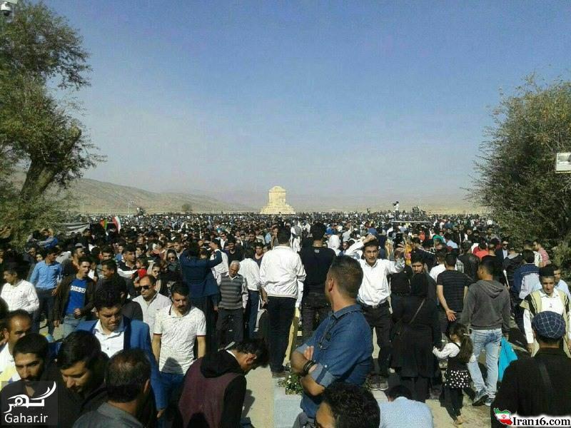 عکسهای حضور مردم در پاسارگاد ۷ آبان ۹۵ بمناسبت تولد کوروش
