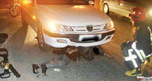 حادثه رانندگی ، خودرو ، زن حادثه دیده ، زنده ماندن زن