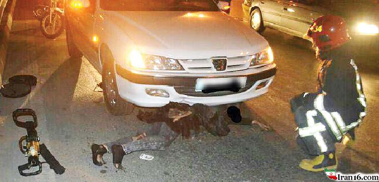 زنی که ۴ کیلومتر زیر خودرو کشیده شد و زنده ماند! +عکس