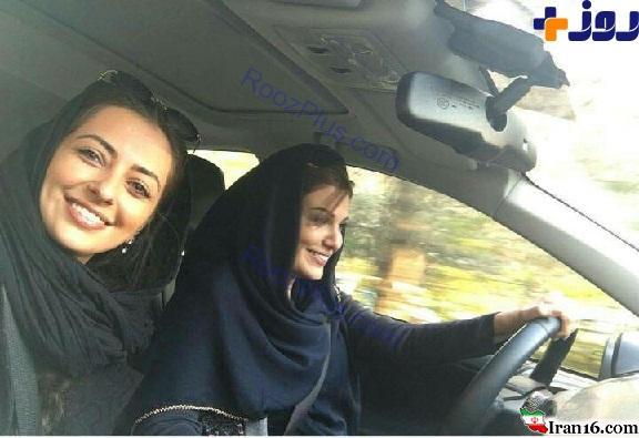 خوشگذرانی بازیگران زن ایرانی در خیابان های تهران+ عکس