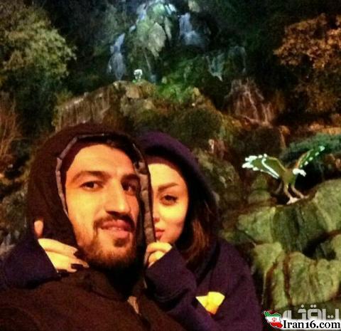 ستاره پرسپولیس در کنار همسرش +عکس