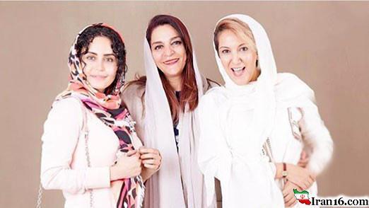 عکس آتلیه ای الناز شاکردوست با زن نامدار سینمای ایران +عکس