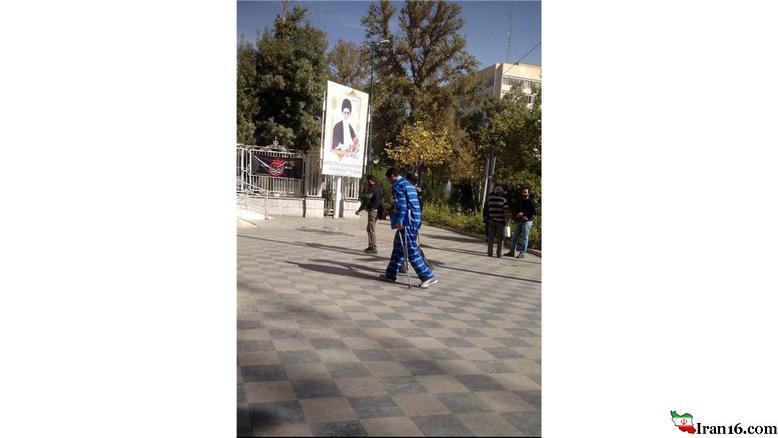 همسر بازیگر زن معروف ایرانی با پای آسیب دیده در دادسرای تهران +عکس