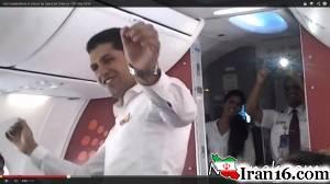 اخراج 2 خلبان به خاطر رقصیدن در هواپیما + تصاویر