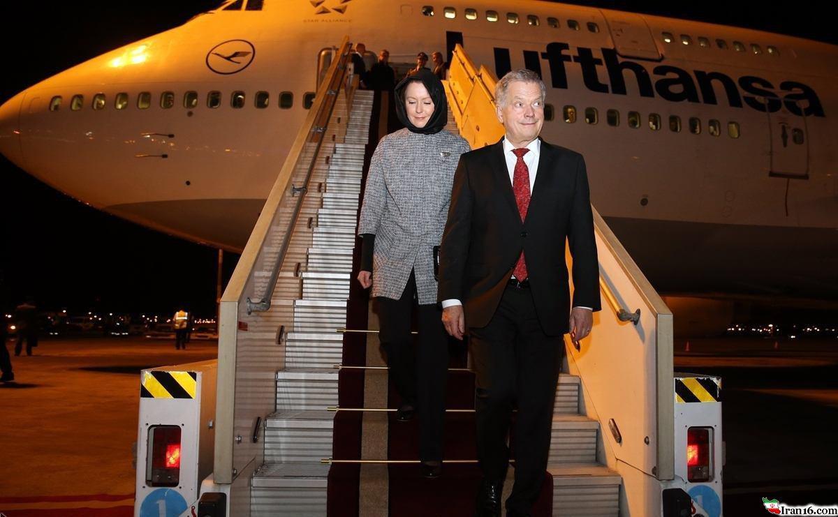 پوشش و حجاب همسر رئیس جمهور فنلاند در ایران