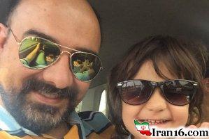 برزو ارجمند بازیگر 41ساله مو کاشت + عکس جدید ارجمند در کنار همسرش
