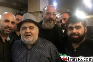 اکبر عبدی, امیر جعفری و علی مسعودی در هیئت عزاداری