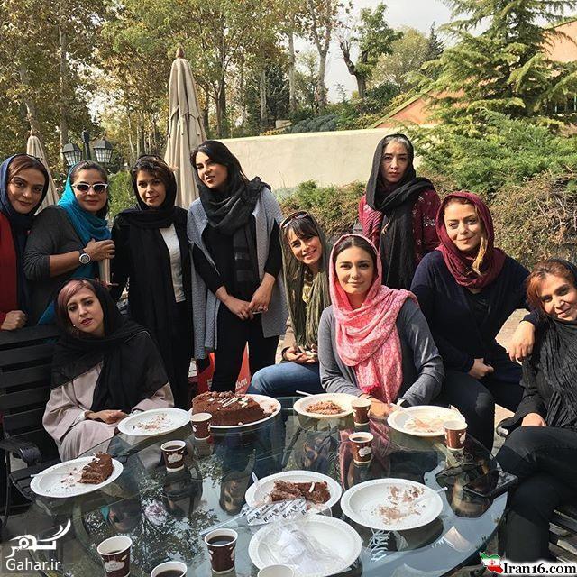 عکس دسته جمعی بازیگران زن در باشگاه انقلاب