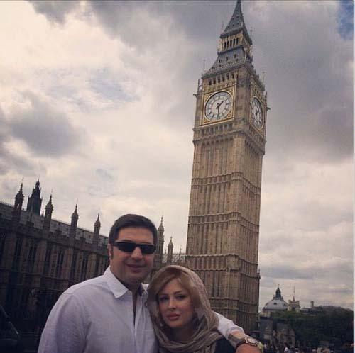 خوشگذرانی بازیگر زن مشهور و همسرپولدارش در انگلیس+عکس