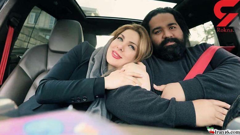 عکس جالب خواننده معروف ایرانی با همسرش حین رانندگی +عکس