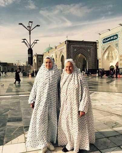 ثروتمندترین زن روسیه با چادر در مشهد ( عکس)